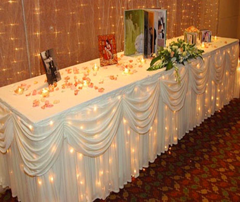 Wedding table cloth decorations junglespirit Choice Image