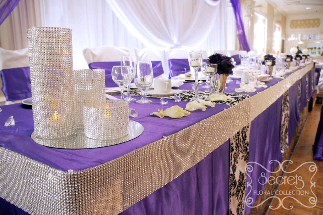 Head Table Decorations Wedding Reception Gallery