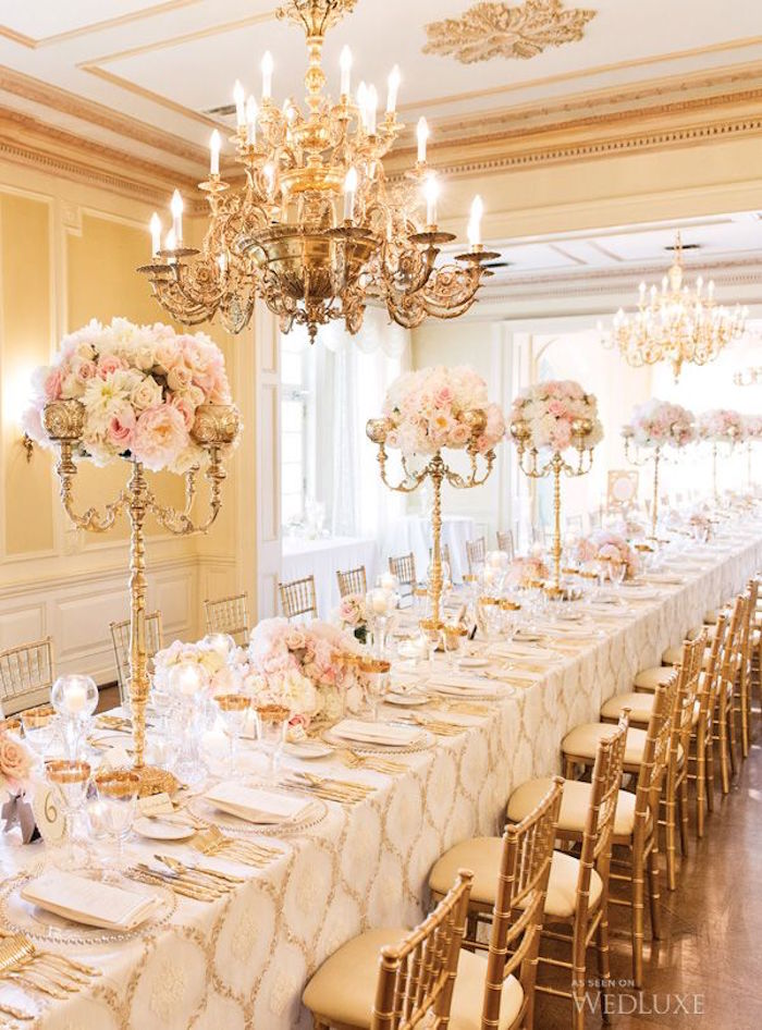 white covers cor floral reception all wedding d bands gold with photo arrangements ribbons sleeves and decor photos chair inspiration