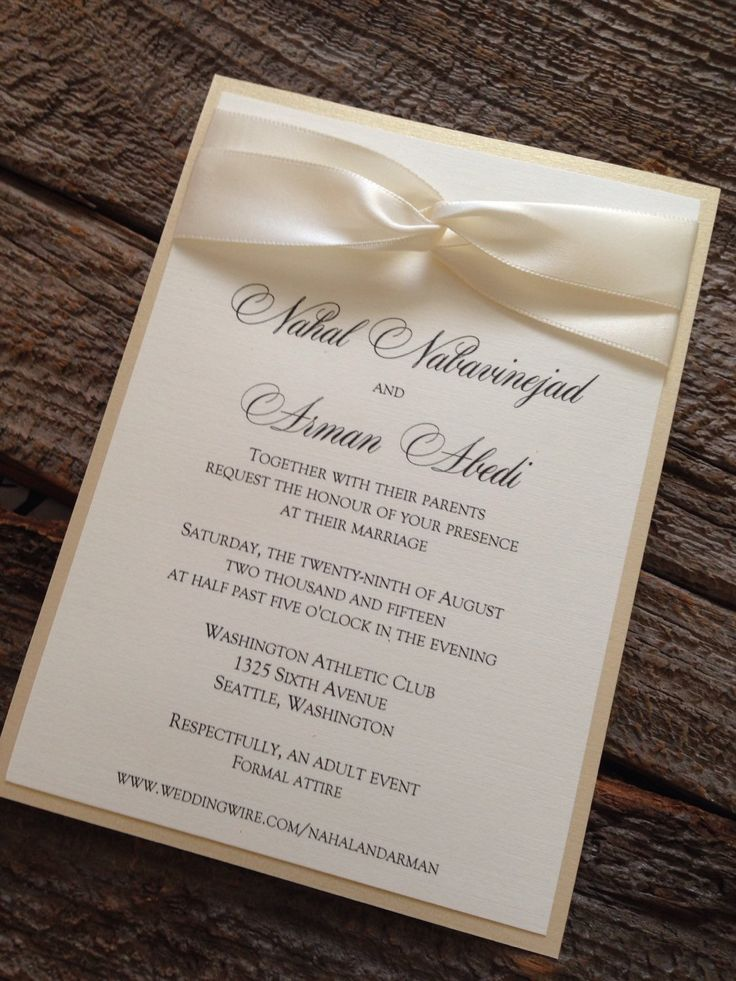 Classic Elegant Wedding Invitations — C Bertha Fashion Diy