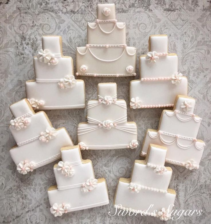 Decorated Wedding Cake Cookies Gallery - Wedding Decoration Ideas