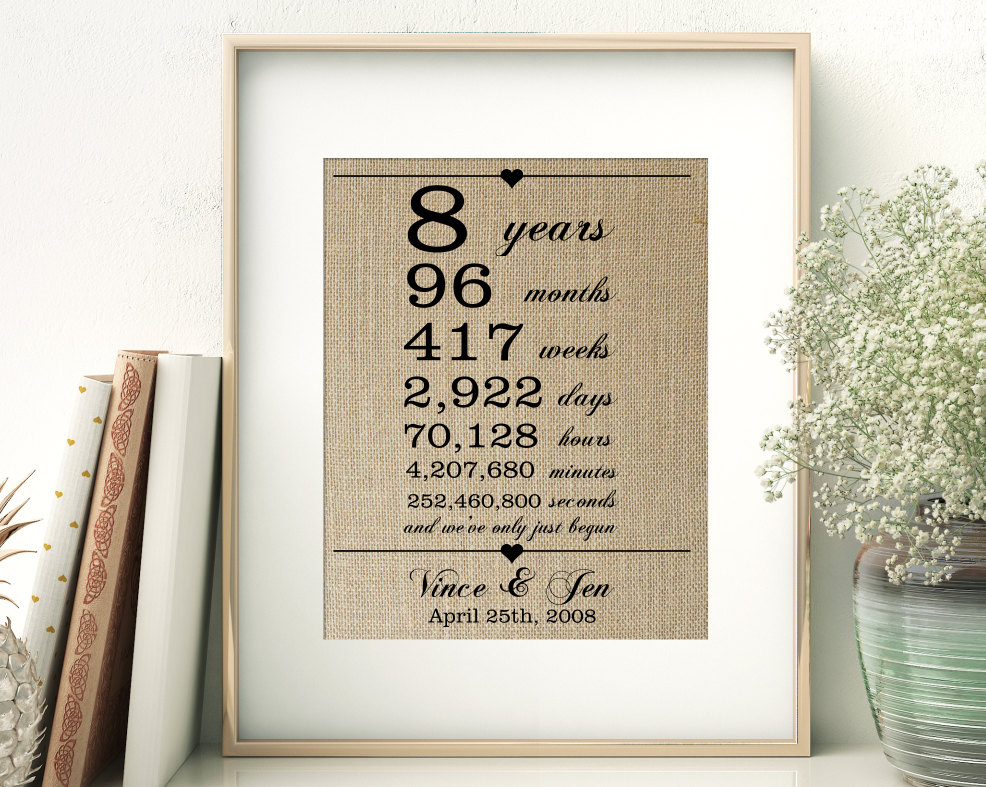 8th Year Wedding Anniversary Gift Ideas Image collections - Wedding ...