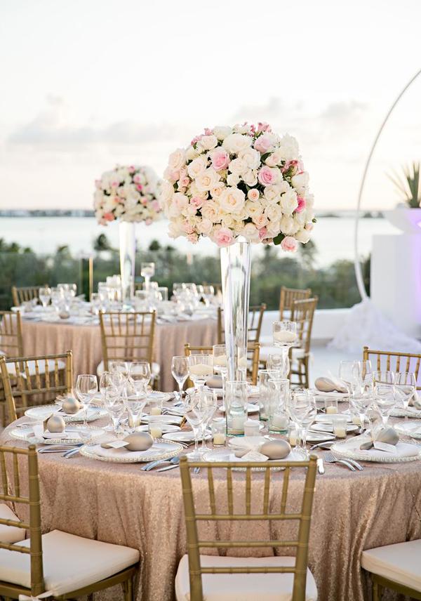Awesome Tall Wedding Reception Centerpieces Photos