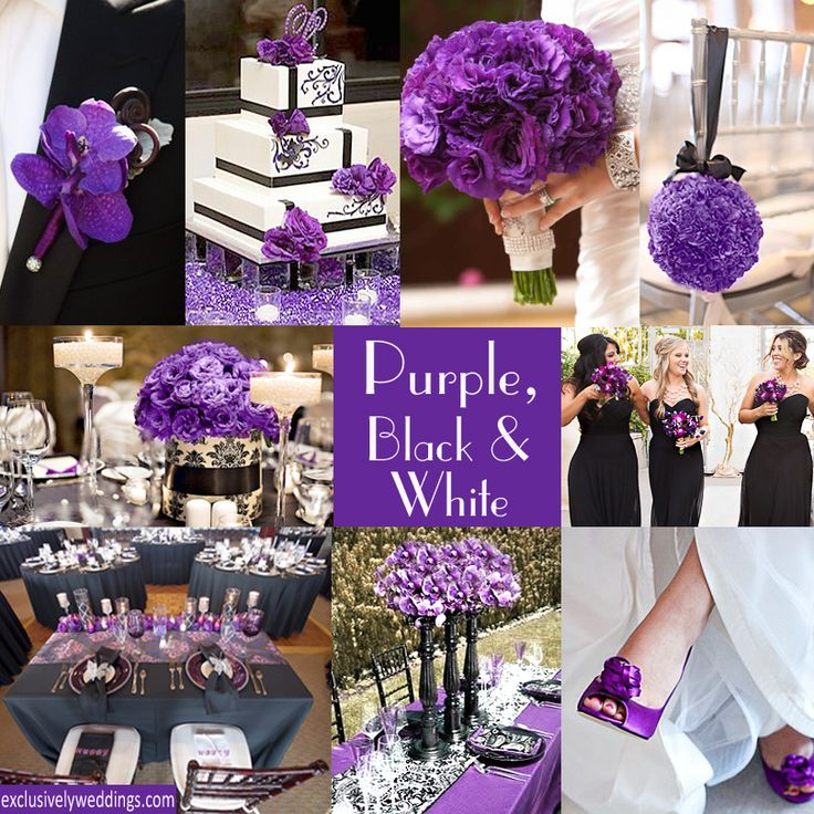 Emejing Purple Black And Silver Wedding Pictures Emasscraft Org