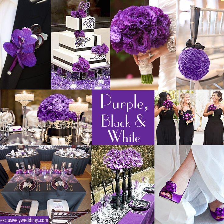 Purple and black wedding ideas junglespirit Gallery