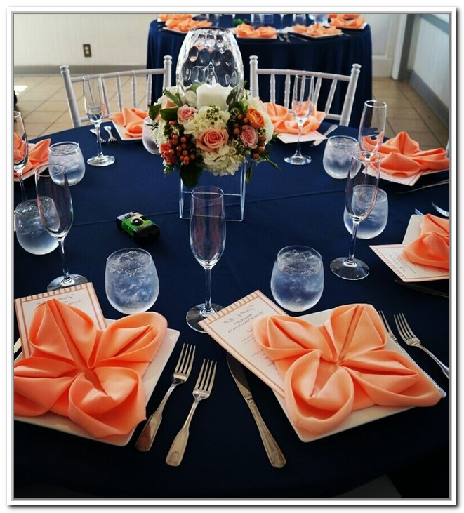 navy blue and coral wedding decorations navy blue and coral wedding 6114