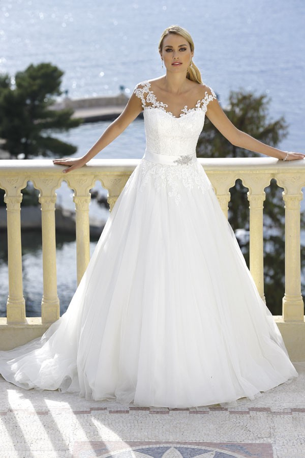 Paloma Blanca Gown 4514 Alt - Ball Gown Wedding Dresses Ireland