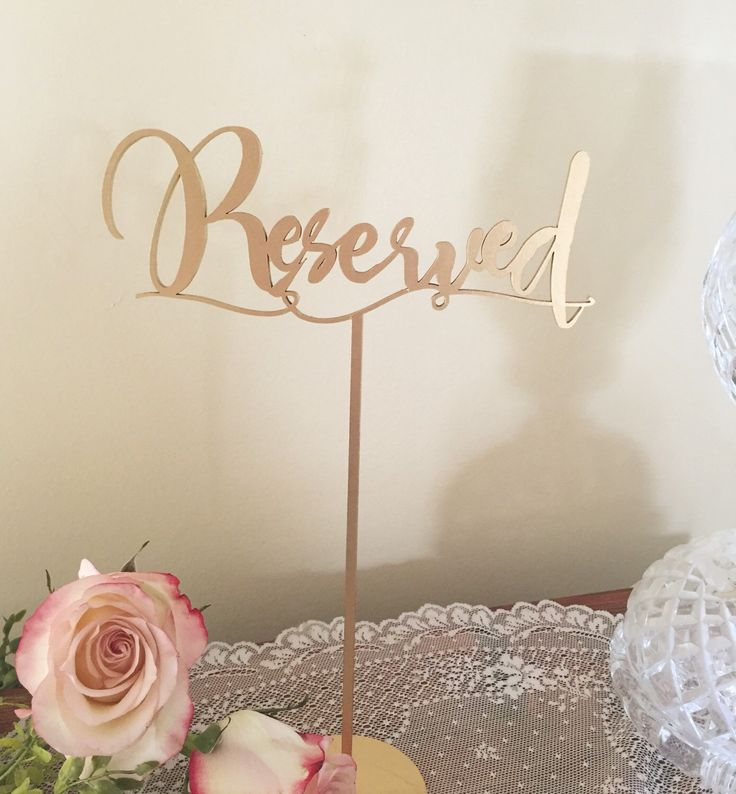 Reserved Table Signs For Wedding