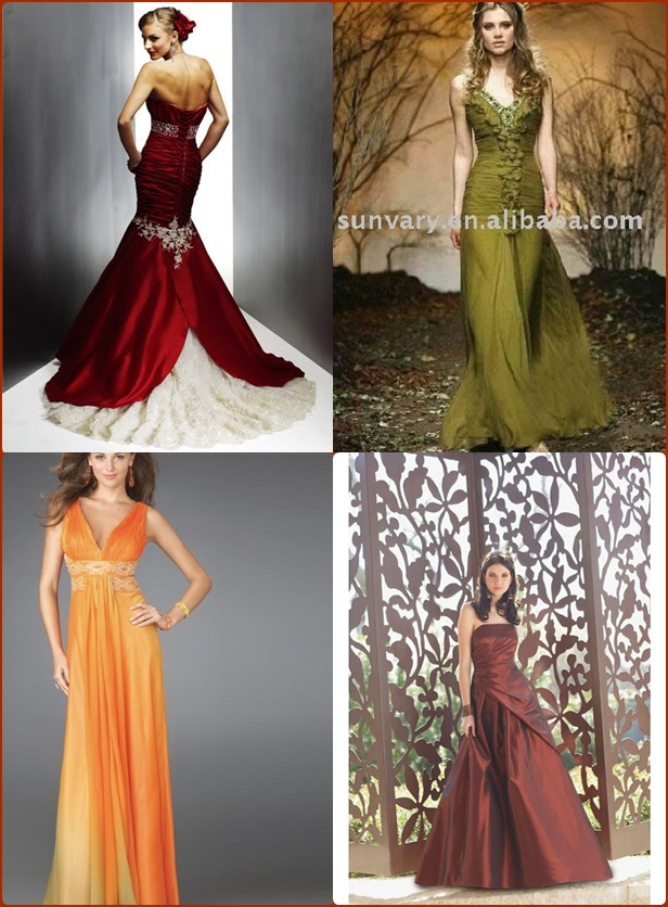 Fall wedding dress with color junglespirit Choice Image