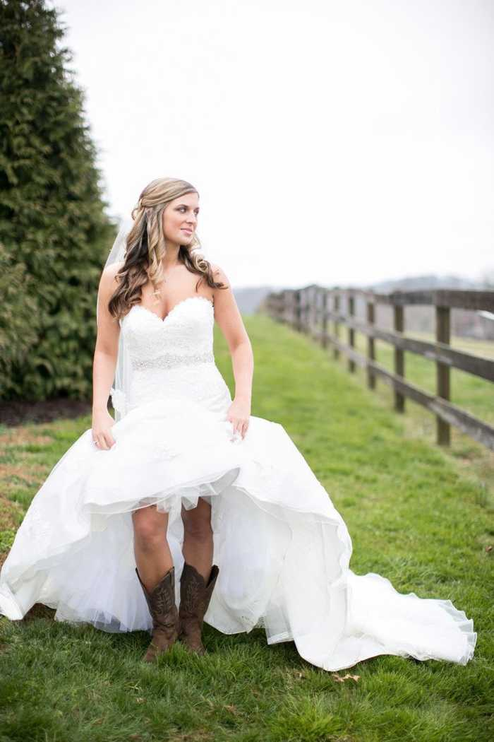 Wedding Dresses to Wear with Boots