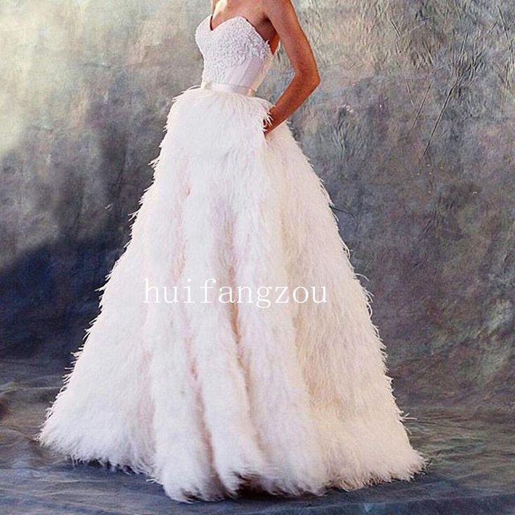 Ostrich Feather Wedding Dress
