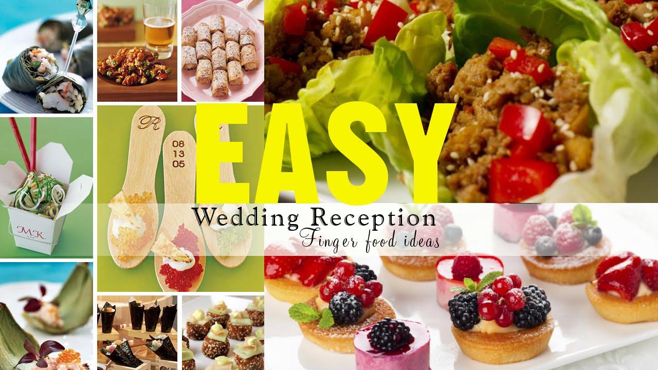 Wedding Reception Menu Ideas Gallery Decoration For Finger Foods Receptions