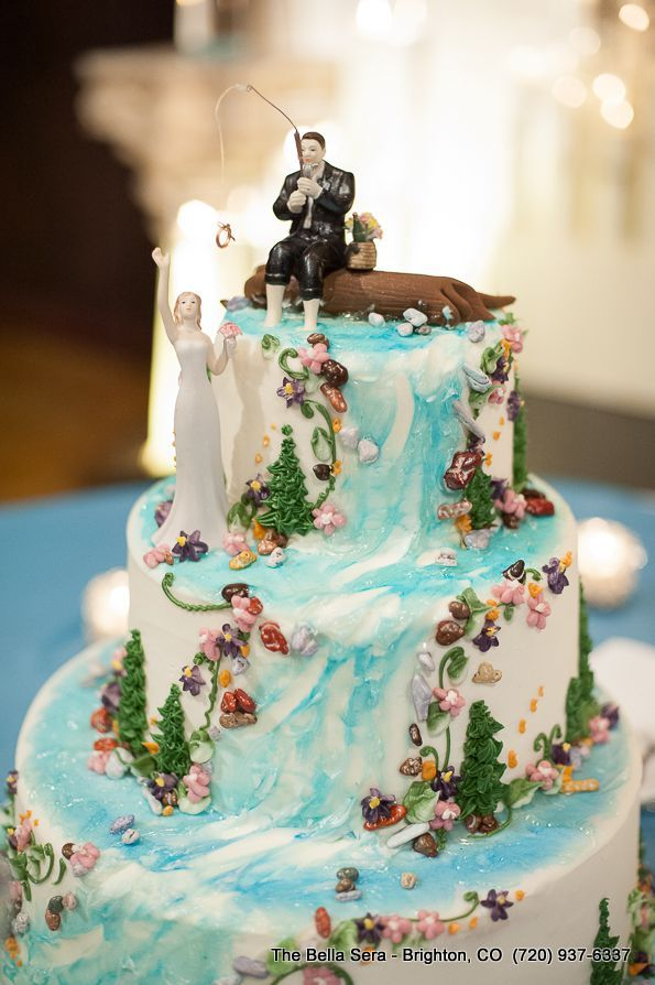 fishing wedding cake images fishing wedding cake toppers 14289