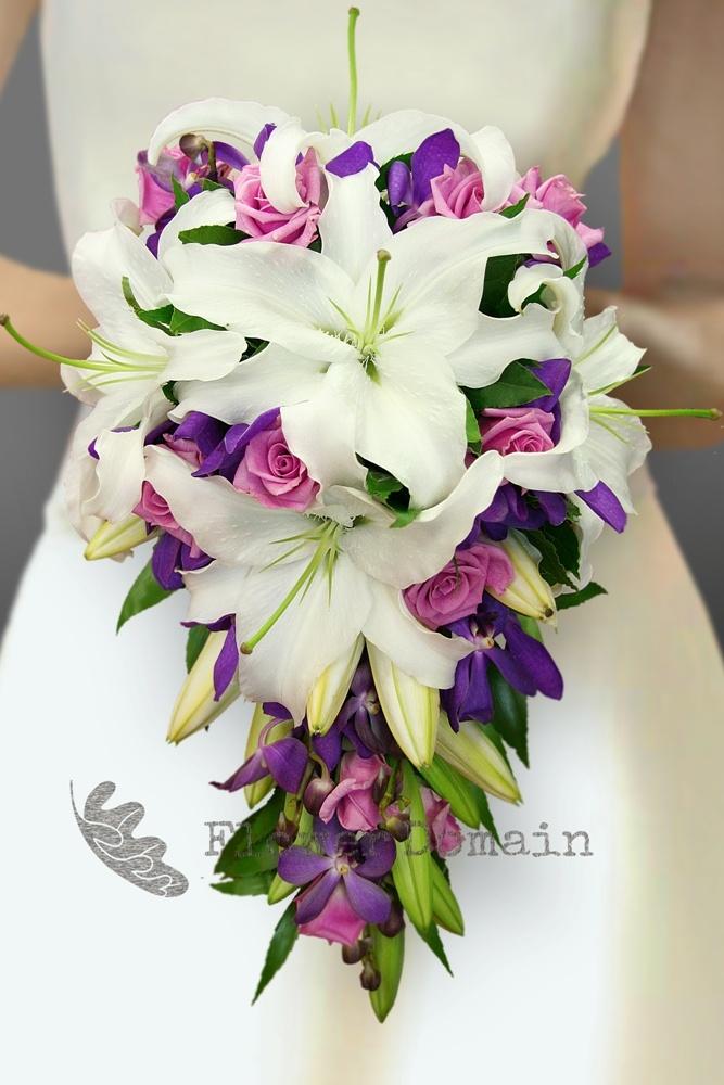 Beautiful Flowers Stargazer Lily Wedding Bouquet Ideas