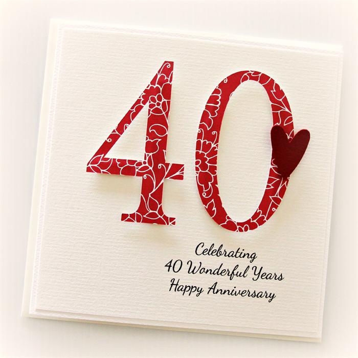 40 Year Wedding Anniversary