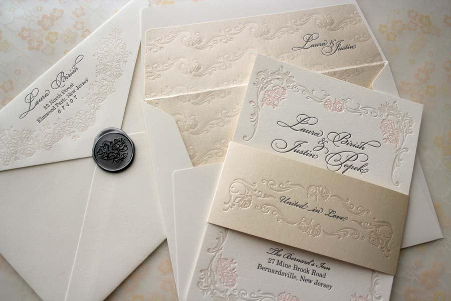 Gold Elegant Wedding Invitations — C Bertha Fashion Diy Elegant