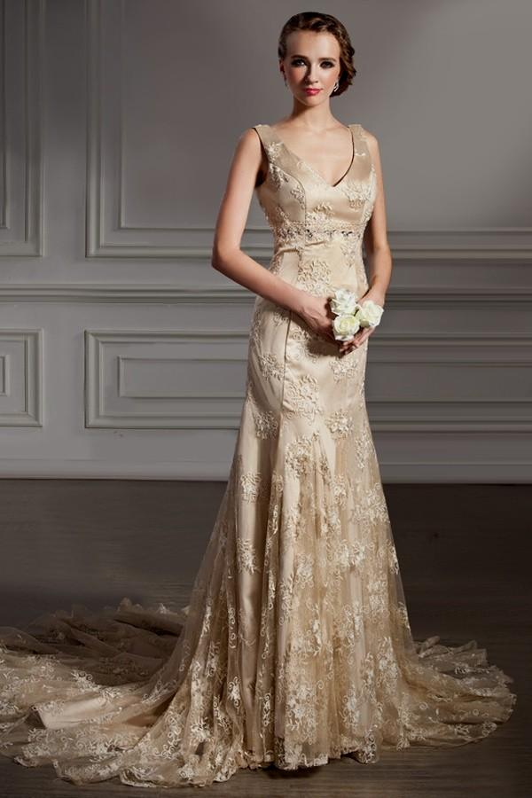Golden Lace Wedding Dress Lace Gold Bridesmaid Dresses