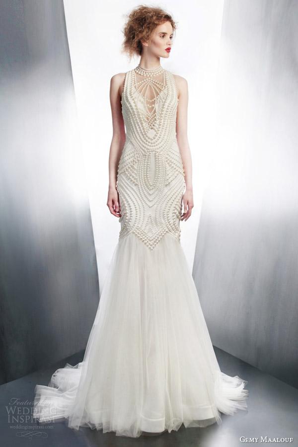 Art deco wedding dress for Art deco wedding dresses