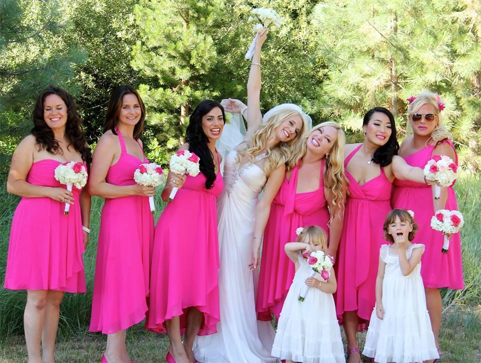 Fuchsia pink wedding junglespirit Images