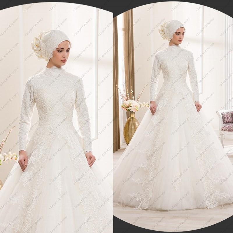 e240264189 Islamic Wedding Dress Traditional Arabic Wedding Dress White High ...