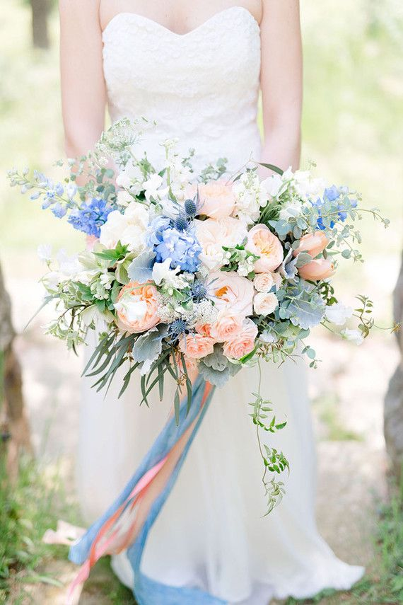 Light Blue Wedding Flowers
