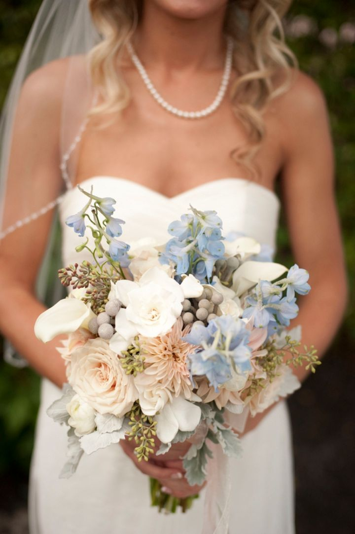 Blue Flowers For Wedding. Red White Blue Bridal Wedding Bouquet With ...