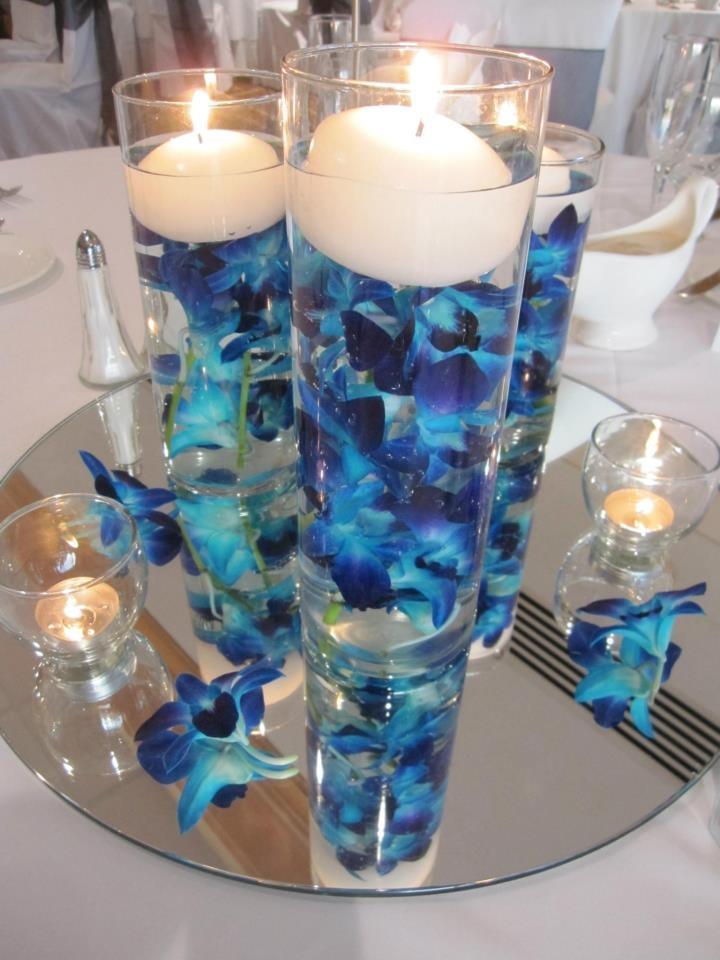 Blue wedding centerpieces junglespirit Gallery
