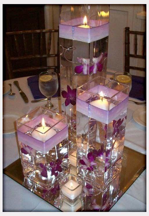 Purple Wedding Centerpieces