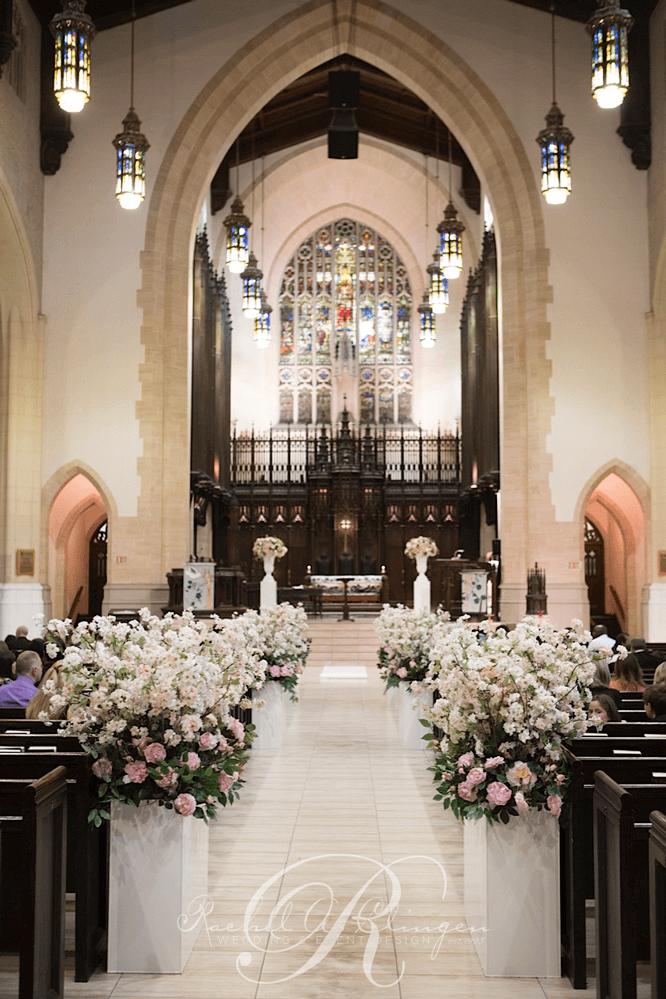 Church wedding aisle decorations lush luxurious aisle decor toronto church wedding ceremony junglespirit Images