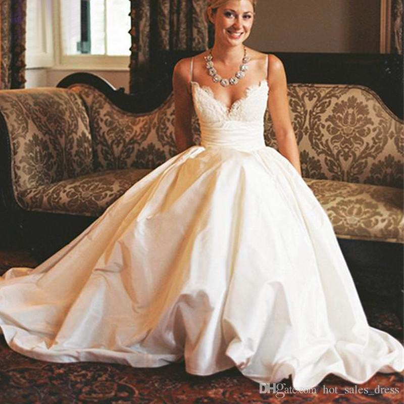 Luxury Taffeta Wedding Dress With Pockets 64 For Lace Wedding