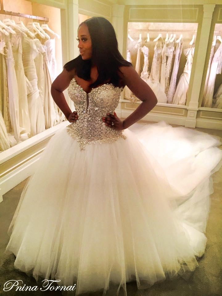Nice Blinged Out Wedding Gowns Festooning Ball Gown