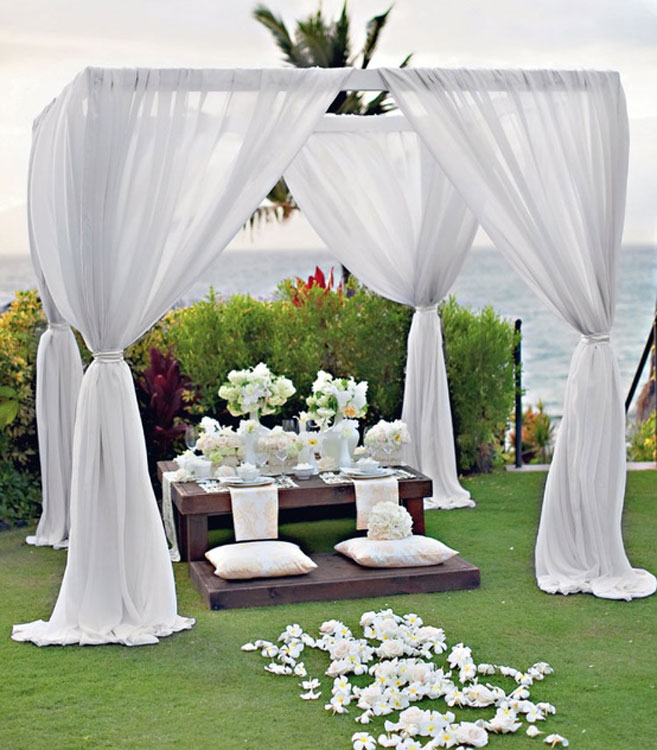 Outdoor wedding decor junglespirit Choice Image