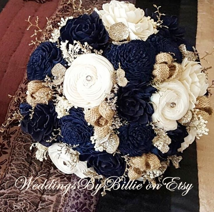 Ivory And Navy Blue Wedding