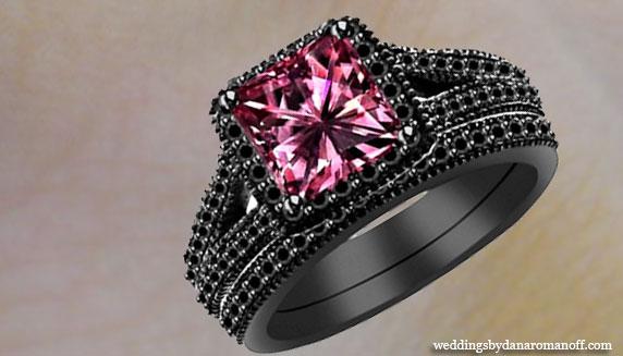 Black pink rings images black pink rings images pink wedding rings jpg junglespirit Gallery