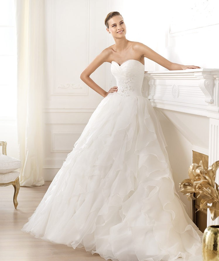 Ball Gown Organza Wedding Dress