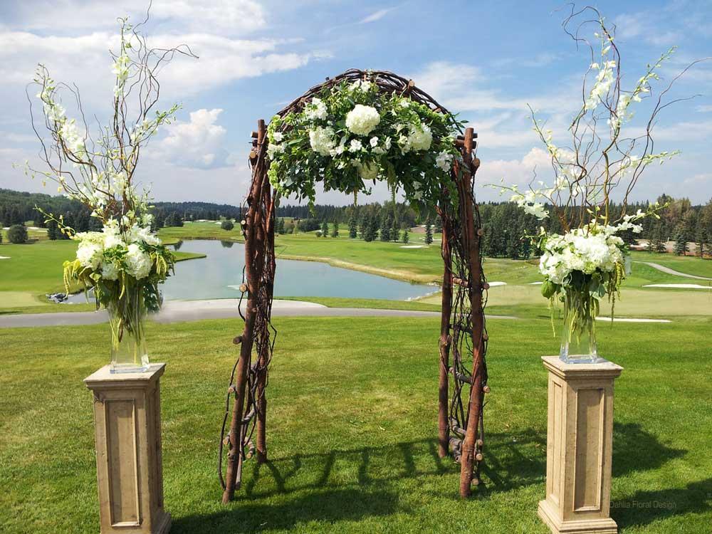 Outdoor Wedding Arbor Ideas 25 Chic And Easy Rustic Wedding Arch