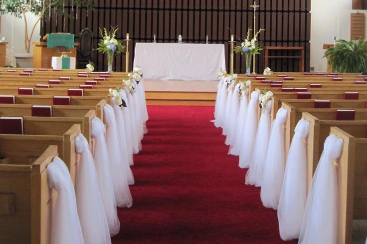 Wedding Church Pews Decorations