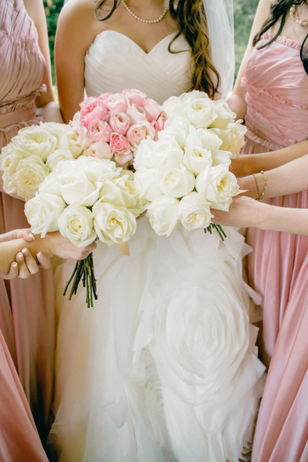 Pink And White Wedding Bouquets Pink And White Bridal Bouquets