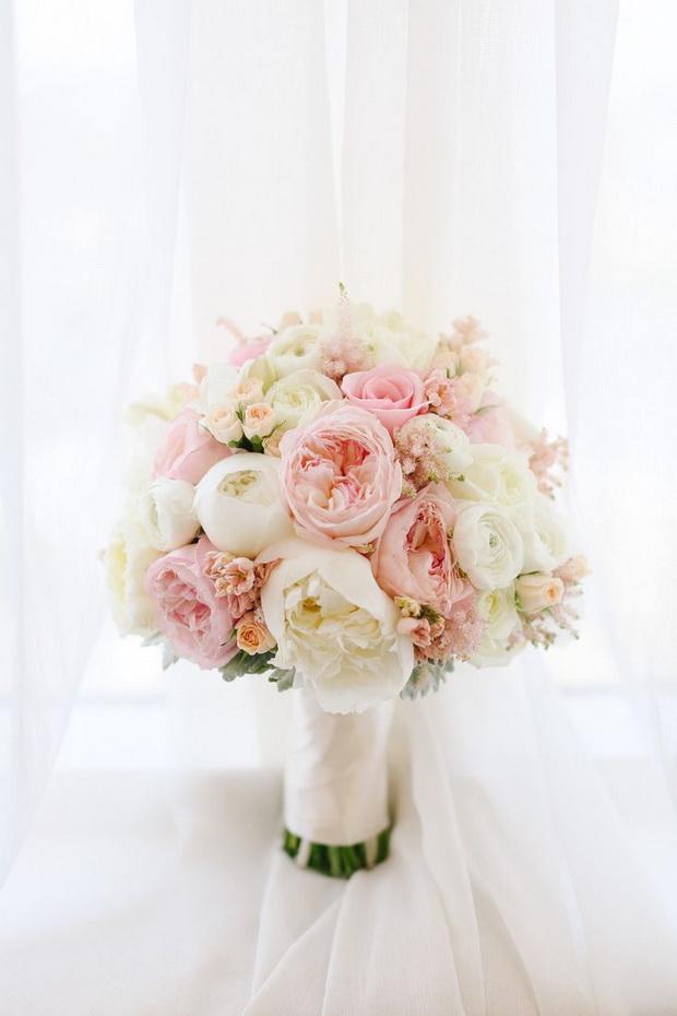 Pink White Wedding Bouquets