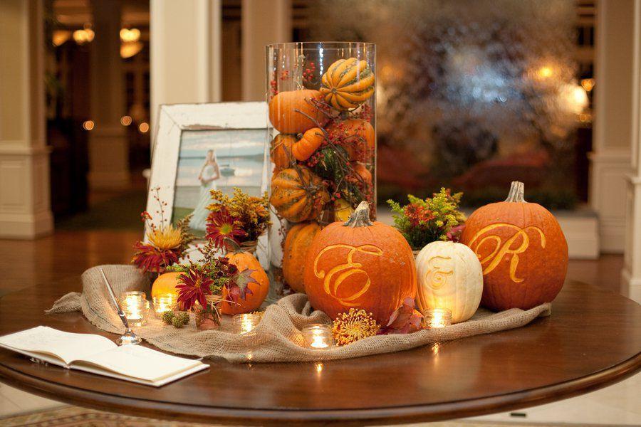 Ideas For Fall Wedding Centerpieces