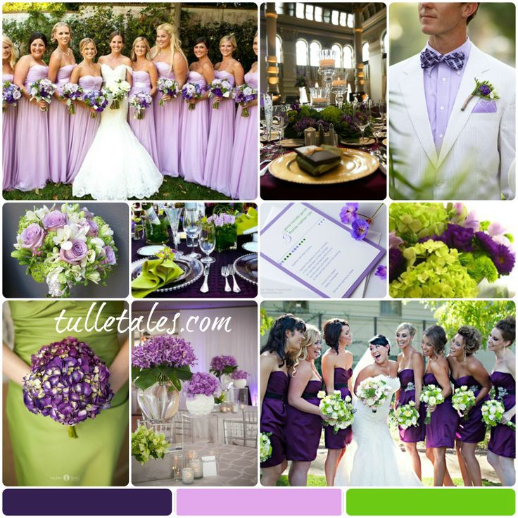 Stunning Green And Purple Wedding Colors Gallery - Styles & Ideas ...