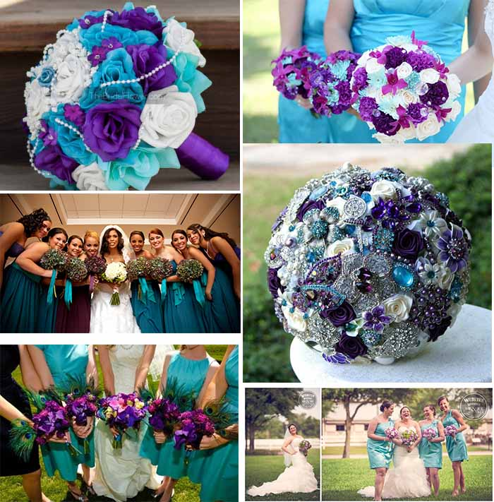 Lavender And Teal Wedding