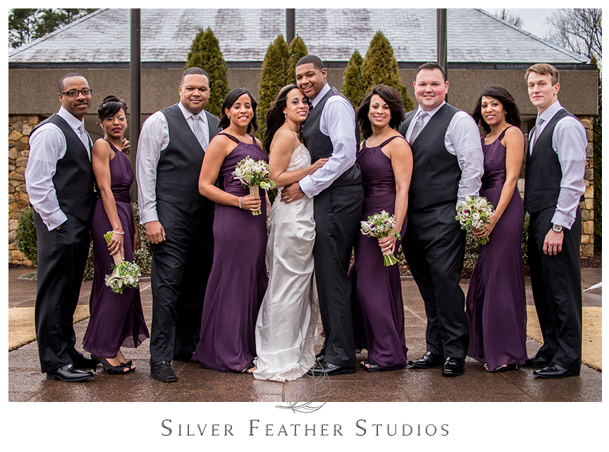 Silver And Purple Wedding Reception