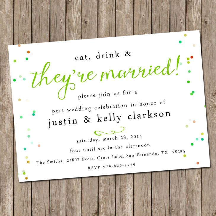 Wedding Invitations After Eloping