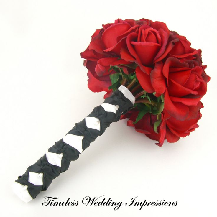Red And Black Wedding Bouquets