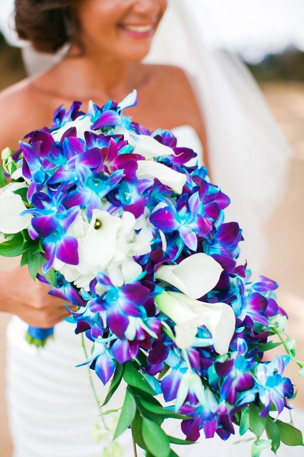 Blue Orchid Wedding Bouquets