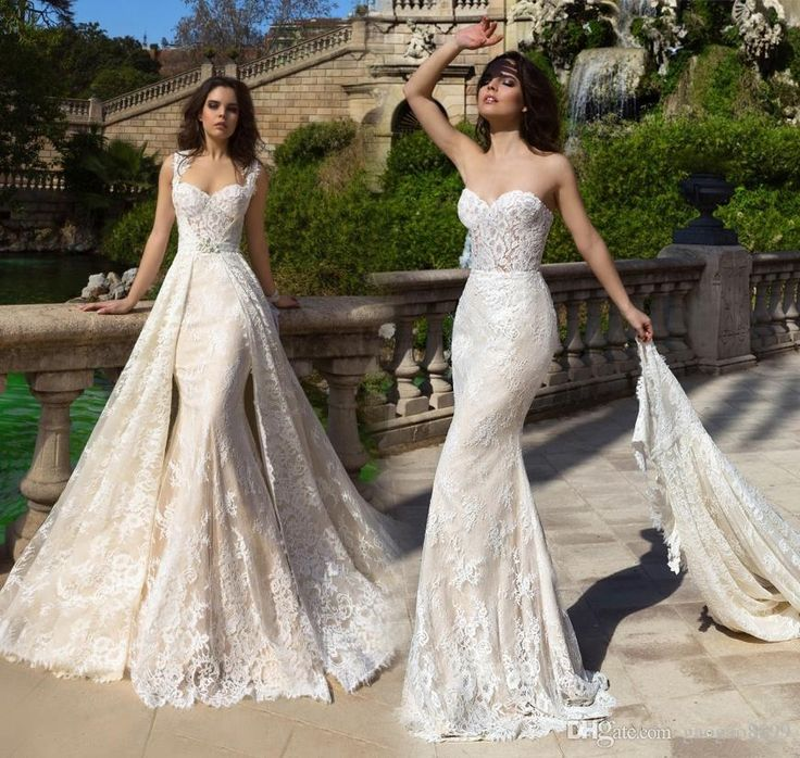 Wedding Gown With Removable Train: Detachable Wedding Dress Train