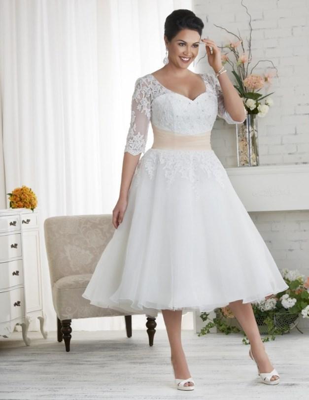 Short Wedding Dress Plus Size Erkalnathandedecker