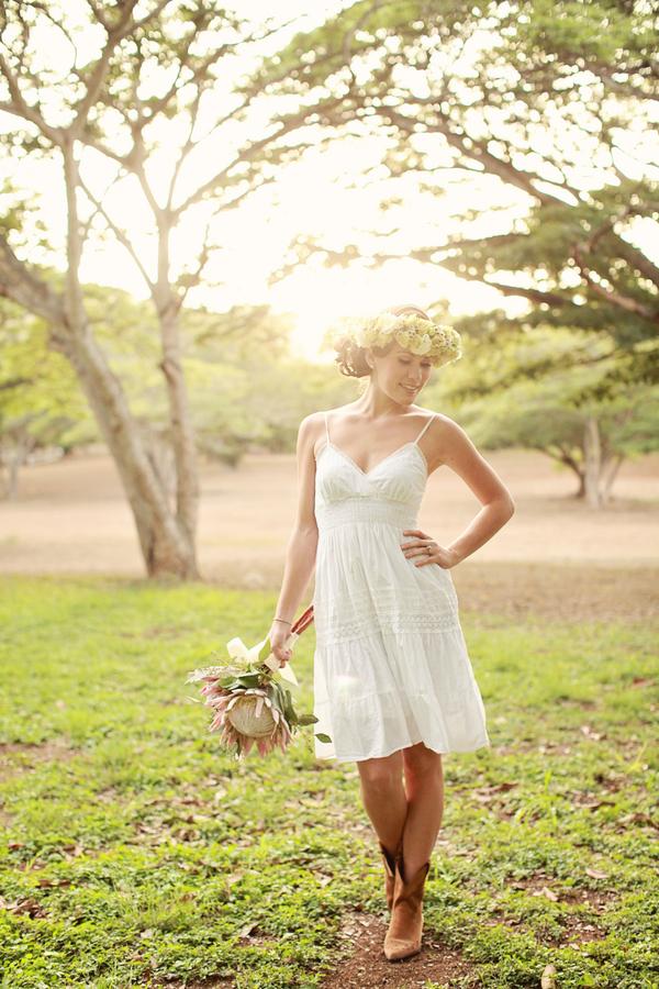 Short Cowgirl Wedding Dress