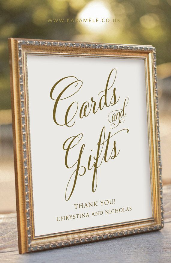 Wedding Gift Table Sign Wording Images